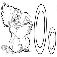 Раскраски с азбукой о обезьяна