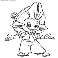 Раскраски с персонажами мультика